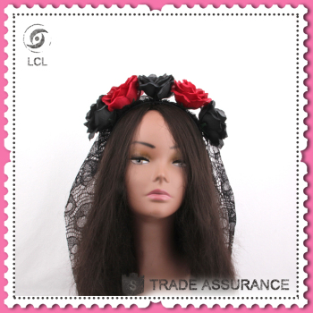 Headband with flower, black headdress for sale