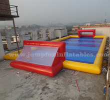 Hot hire Large human water football,adults water games Inflatable soap football pitch