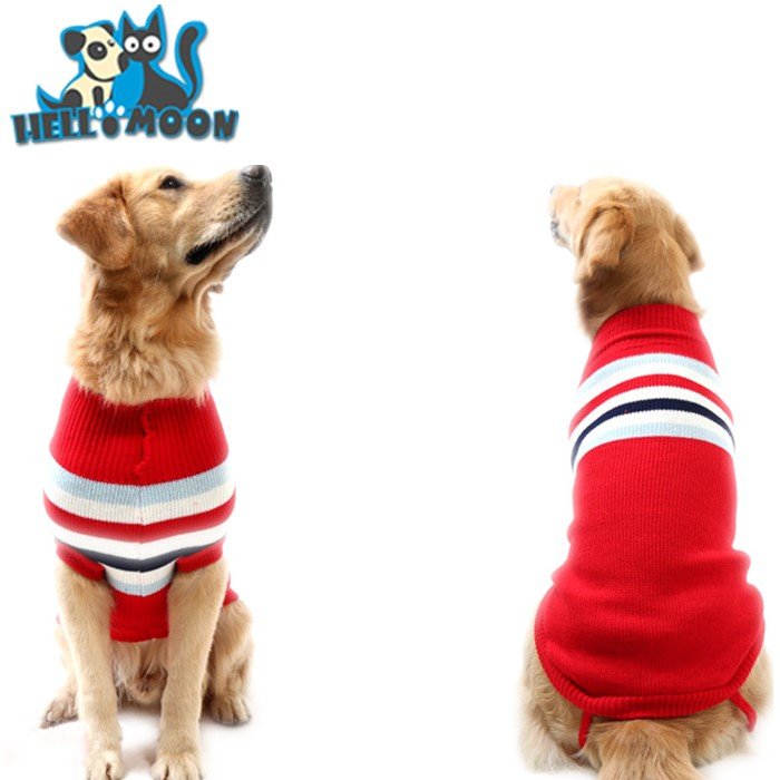 Winter Warm Extra Polyester Large Dog Sweaters for Big Dogs 2 Colors