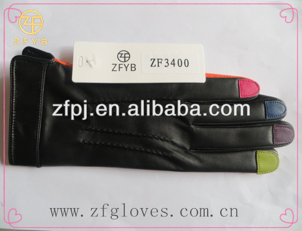 Wholesale manufacturer 100% Genuine Leather fashion glove
