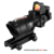 Red Dot Suppliers ACOG 4X32 Red Fiber Dual Sighting Optics With Mini Red Dot Scope & Light-Operated