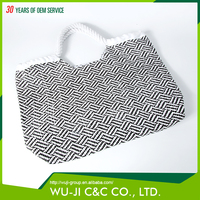 China made professional plain tote bags folding beach bag