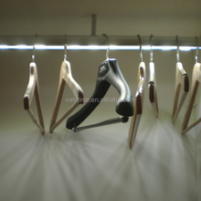 Wardrobe clothes rod with LED light