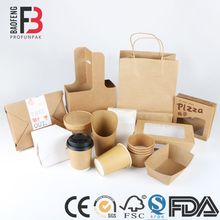 Disposable Take Away Custom Logo Printed Paper Fast Food Packaging