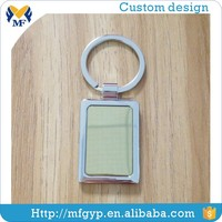 Wholesale metal square cheap blank keychain