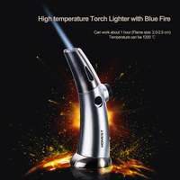 BCH528 Curved surface body luxury gift souvenir Cooking BBQ torch lighter with Blue fire