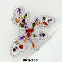 Butterfly Brooch Copper Inlay AAA Grade Zircon stone Top Ladies Brooch