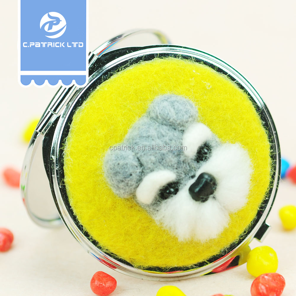 Handicraft needle felting craft for festival decoration/small mirror toy