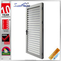 Superb Aluminium exterior door shutters with o type blinds