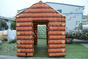giant log cabin Military paintball bunker
