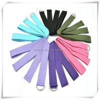 100% cotton yoga stretch elastic strap / yoga belt