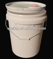 5 gallon white plastic bucket with spout and handle for oil