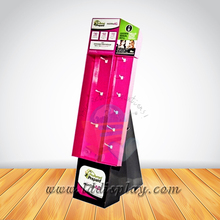 Customized Designed cardboard mobile phone accessories display cabinet
