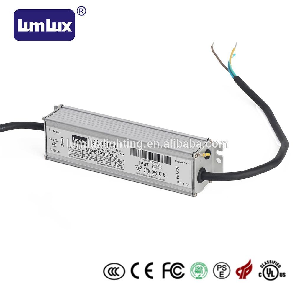 40W waterproof led driver 40W