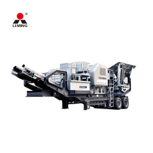 LIMING Tire mobile crusher plant / mobile jaw crusher plant / primary crushing machine