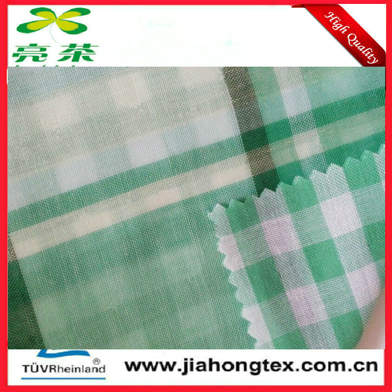 100 cotton double layer poplin check fabric