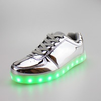 New design running light up shoes for adult in hot selling, led shoes,big size shoes wholesale
