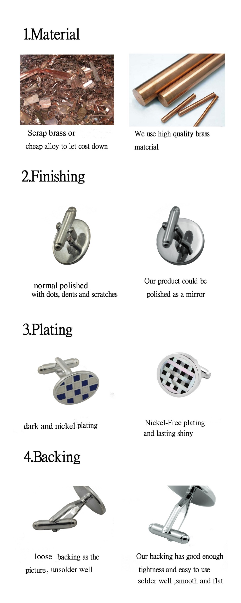 Chinese funny cufflinks manufacturer silver plated customized dice cufflinks