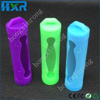 colorful factory price 18650 battery Protective Silicone Case Battery Cover