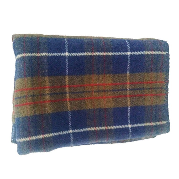 Hot selling plaid print super warm double-faced pile berber fleece knee blanket