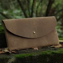 Fashion! Western Style! Simple Design100% eco-friendly Crazy Horse Leather clutch bag women handbag man messenger bags
