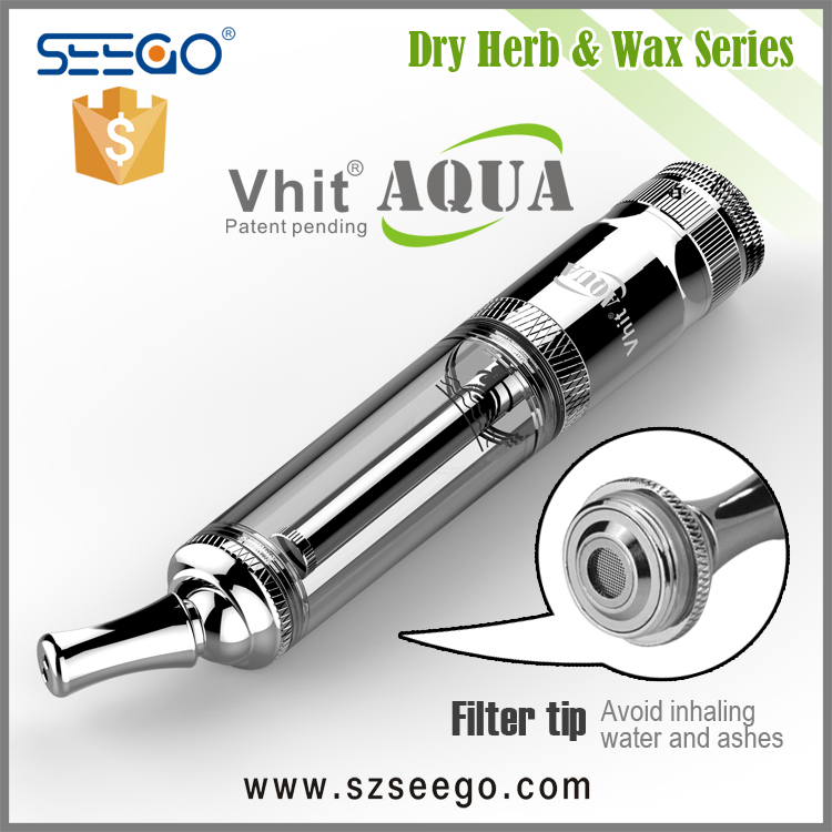 2016 new patent pending 2 in 1 Vhit Aqua SEEGO sliver vaporizer dry herb wax pen uk