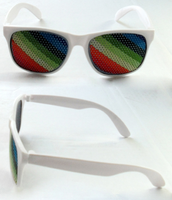 Pinhole Sticker Sun Glasses Purple Frame