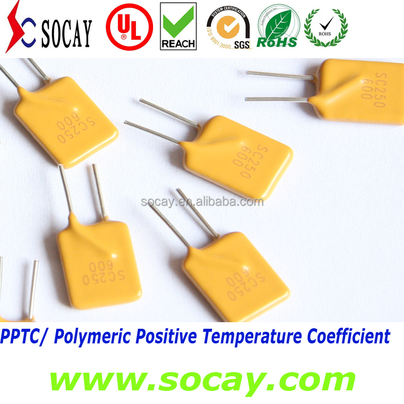 250V PPTC Resettable thermal Fuse /PPTC Resettable Fuses 3A 5A 7.5A 10A 15A 20A 25A
