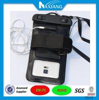 2016 new hot sale passed IPX8 test waterproof mobile phone bag