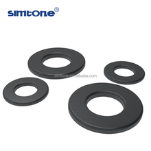 small and large carbon steel black rubber plastic DIN125 flat washer for bolts screws