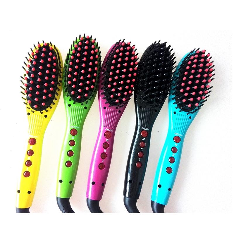 Wholesale golobal voltage three temperature setting fast custom hair straightener brush