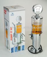 Metal look liquor dispenser for promotion