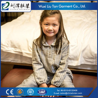 high quality cotton linen names children sleepwear supplier