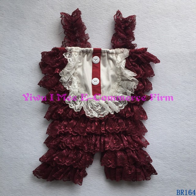 Boutique Wholesale Infant Clothing Petti Baby Girls Lace Ruffles Romper BR164