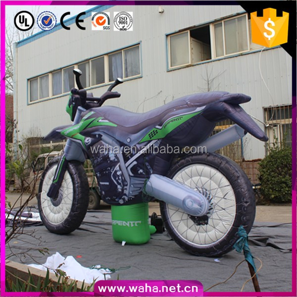 Cheap price custom outdoor promotion inflatable motorcycle