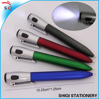 2014 new design customized logo ballpen with torch