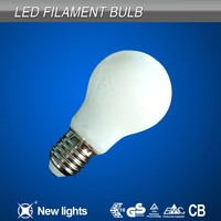 AC110/220V Residential Light Milk White Cover A60 Led Filament Bulb