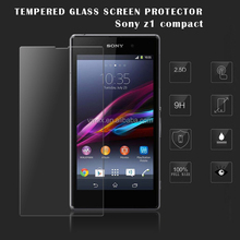 HOT SALE!! Top brand VMAX Japan Asahi 9H 2.5D 0.20 0.33mm mobile phone Tempered Glass screen protector guard for Sony z1 compact