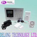315/433MHz LCD intelligent gsm home alarm with 8 wired +99 wireless zones