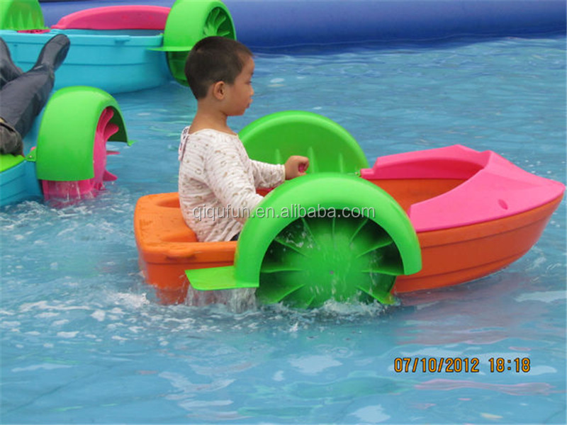 Floating island inflatable water pool for small plastic kids hand paddle boat