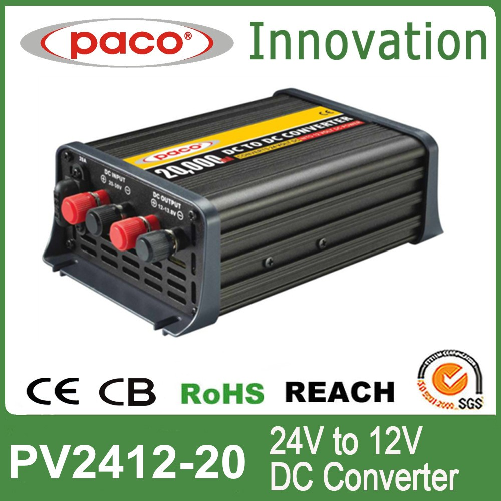 DC Converters, 24V AC to 12V DC Converter 20A, Customization Available