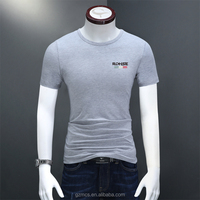 2017 summer tide mercerized cotton elastic modal half sleeve T-shirt