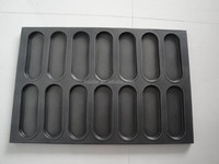 stainless steel teflon coated non stick hot dog baking tray