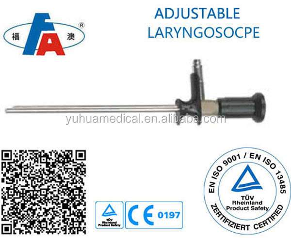 90 degree focusing rigid telescope laryngoscope for ENT department