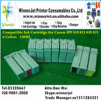 6 Colors Compatible Ink Cartridge for Canon 810 815 printer