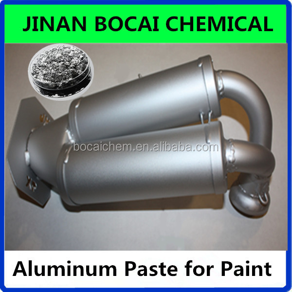 silver color aluminum pigment, white metallic aluminum paste for paint making with fine particle size