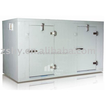 High quality double temperature polyurethane cold room with twin doors