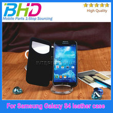 Low price for samsung galaxy s4 i9500 leather flip case