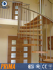 indoor wooden spiral staircase / timber staircase / oak spiral staircase with stainless steel balustrade