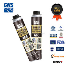 high quality 750ml spray pu foam sealant for door window